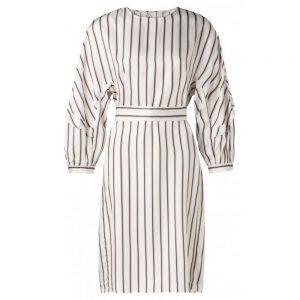 Gestreiftes Kleid mit Rüschen