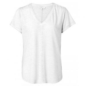 T-Shirt mit V-Ausschnitt in Ölfärbung