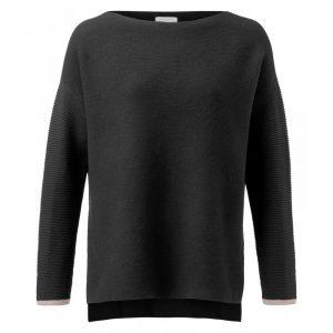 Pullover aus Baumwolle mit gerippten Ärmeln