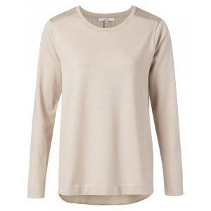 Sweatshirt mit Kontrasteinsatz am Rücken