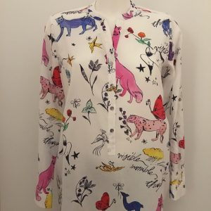 Bluse mit Muster Milano Italy
