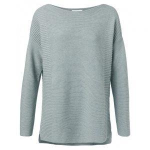 Pullover aus Baumwolle mit kleinen Seitenschlitzen