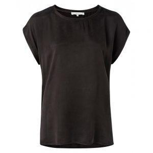 T-Shirt aus Mischgewebe mit Rundsaum
