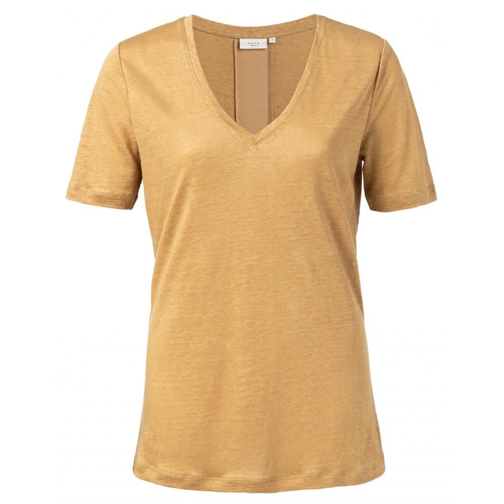 t-shirt-aus-leinen-mit-v-ausschnitt-und-satinleiste-hinten