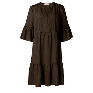 Midi-Kleid mit Rüschen